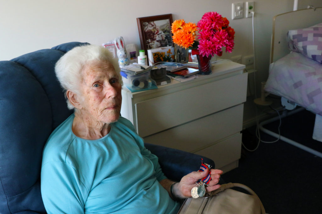 Narelle treasures her service medals, enlistment papers and photos from the time