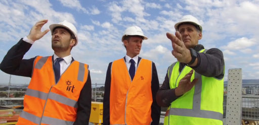 Topping out ceremony at IRT Parkside