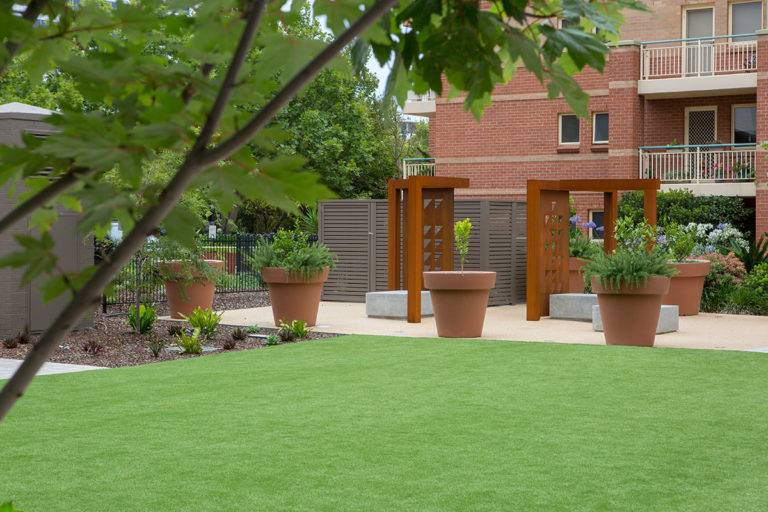 Parkside courtyard