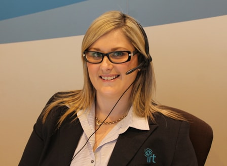 Female member of the IRT customer service team