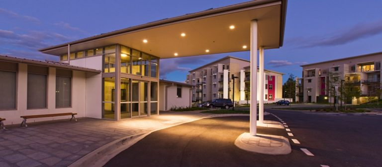 The entrance of the Kangara Waters retirement village