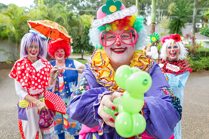 The Coastal Caring Clowns were set up in 2001 by Barbara Brewster, who was a Caring Clown in Oregon, USA