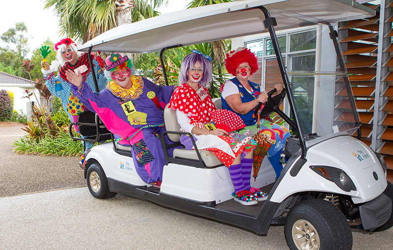 Robyn says the voluntary organisation has 28 clowns, four of whom (including Robyn) live at IRT The Palms including Jan Matthews, Di Burles and Sue Wellman.
