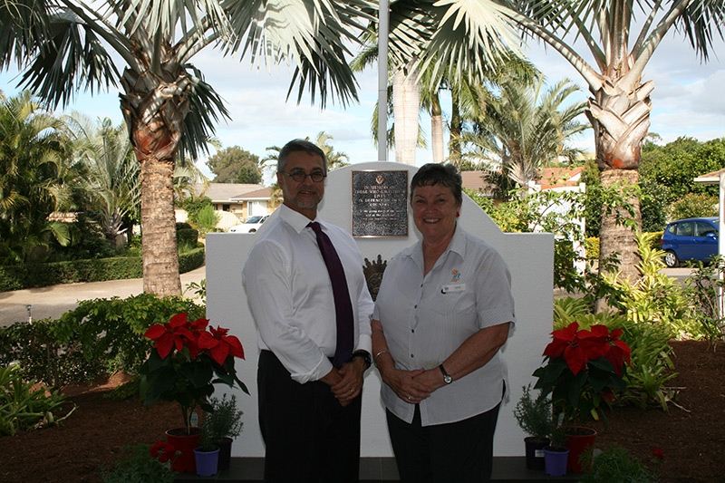 IRT The Ridge Lifestyle Manager Gabriel Oriti and Lifestyle Officer Kaye Ross.