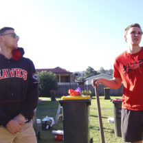 Hawks volunteer at IRT Gunyah working bee