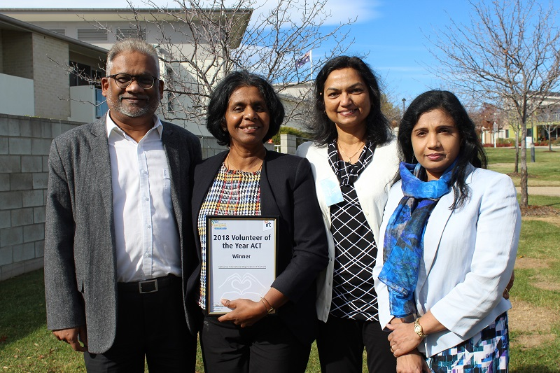 IRT Volunteer of the Year Award winner - ACT, Sathya Sai International Organisation of Australia.