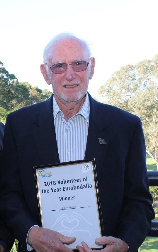 IRT Volunteer of the Year award winner - Eurobodalla, Dr Graham Thomas.