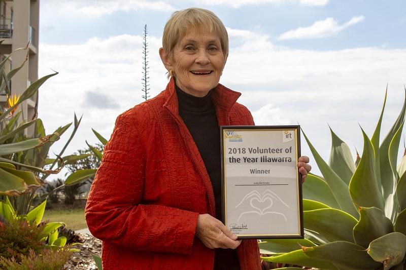 IRT Volunteer of the Year Award winner 2018 - Illawarra, Judy Bertinato.