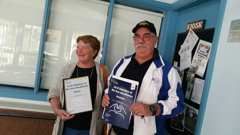 IRT Volunteer of the Year award winner - Shoalhaven, Jim and Jenny Cottle.