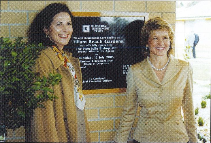 Julie Bishop opening William Beach Garden aged care centre