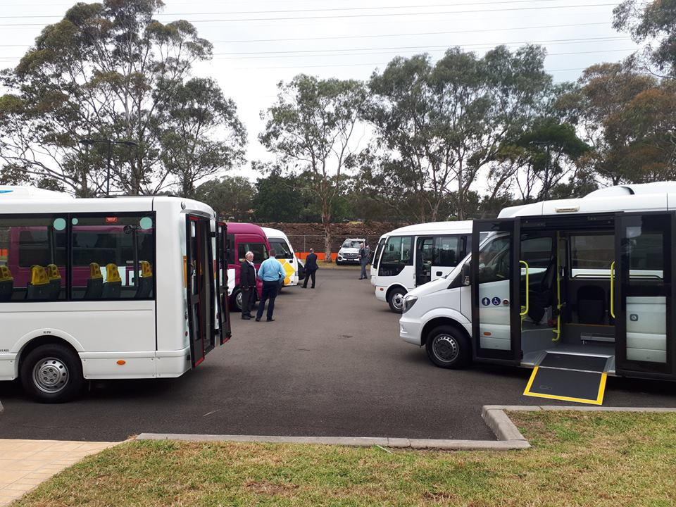 Buses parked in retirement home car park
