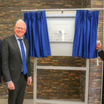 Parkside opening - plaque reveal