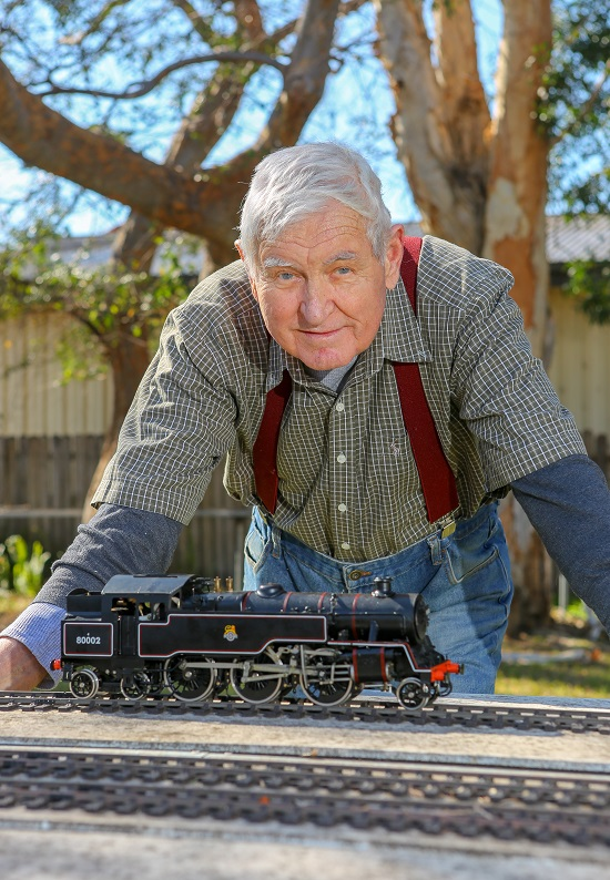 IRT Home Care customer Barry Glover is a miniature train enthusiast.