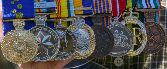 Barry Glover's medals