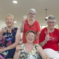 (left to right) Val Metherell, Arleen Tregenza, Marrie Handley and Sandy Butow (front) spoke to The Good Life about friendship.