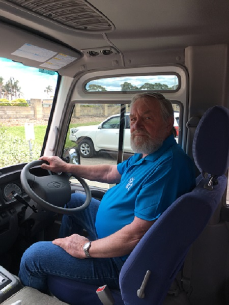 David Deeben is a volunteer bus driver with IRT.
