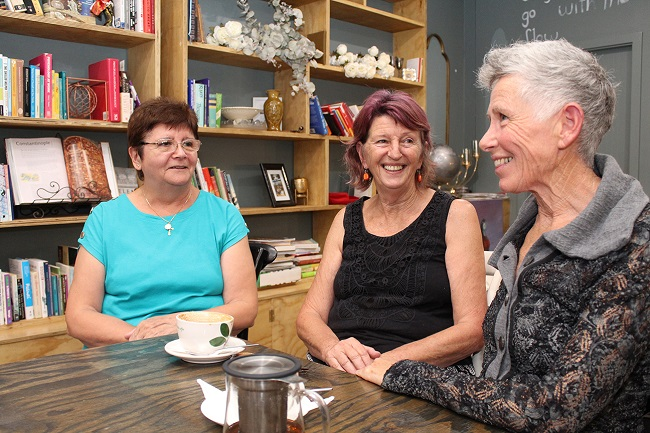 (Left to right) Maria, Anna and Anne are taking part in the homesharing project.