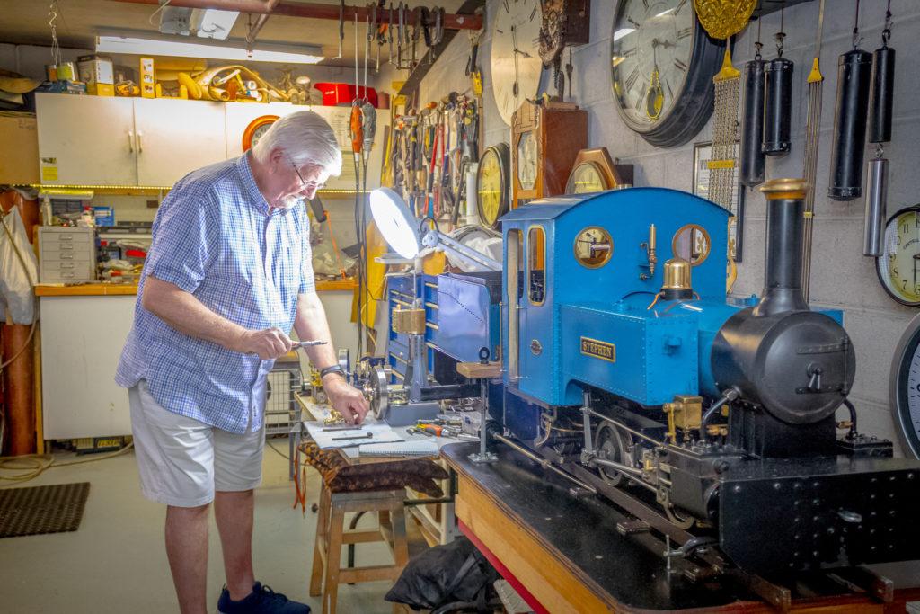 Doug working