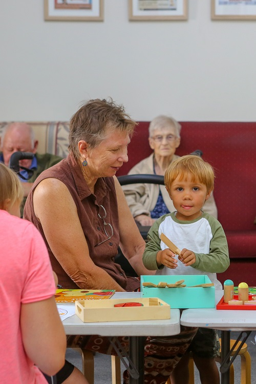 IRT Moruya residents and local families enjoy coming together for a playgroup session.