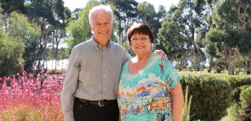 Hartmut and Evelyn at IRT Kangara Waters in 2019.