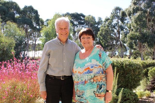 Hartmut and Evelyn at IRT Kangara Waters in 2019.