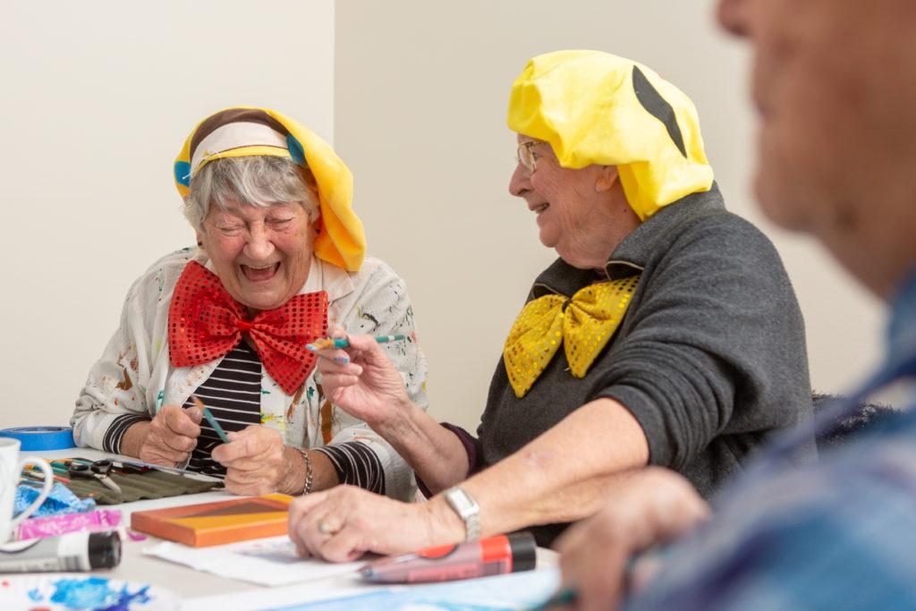 IRT Peakhurst art class students Maureen Falconer and Pat Lusty