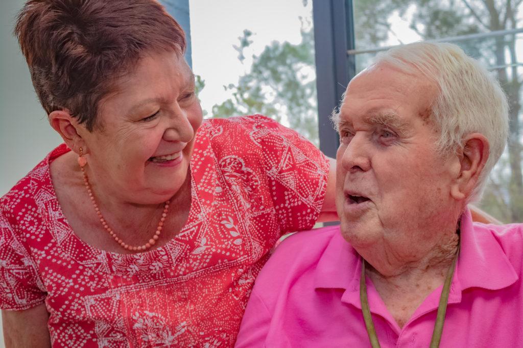 IRT Woolwich volunteer Gay Harris with resident Allan Waugh.