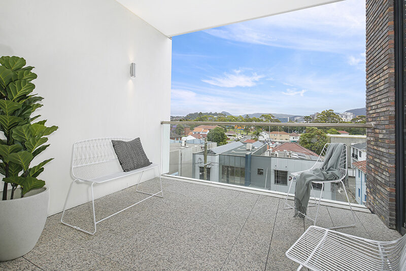 large apartment balcony and view