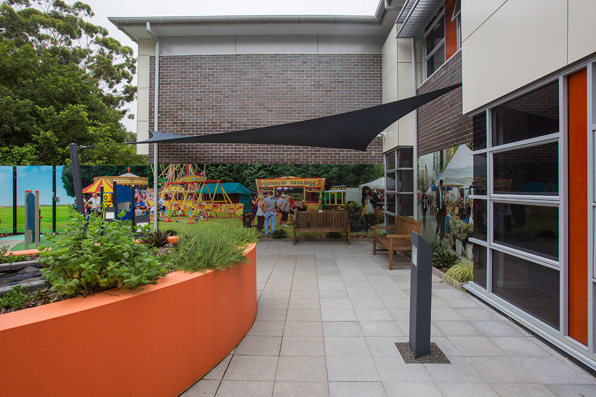 Aged care courtyard