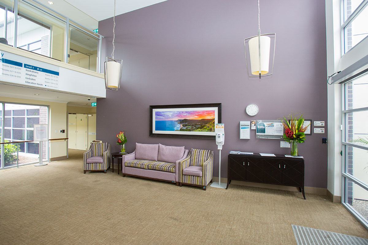 Aged care centre foyer