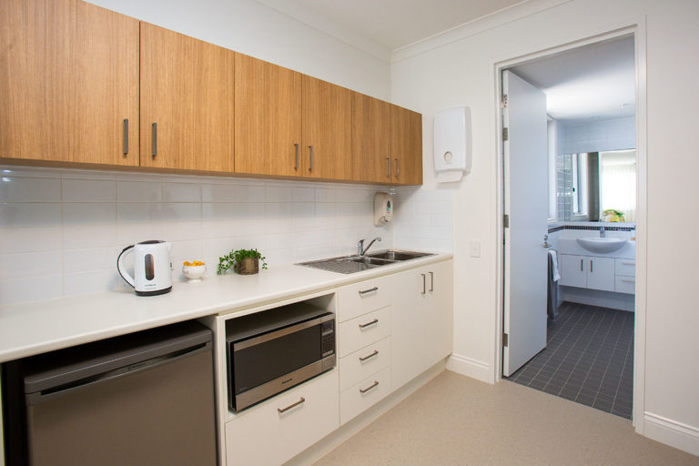 Aged care suite kitchenette