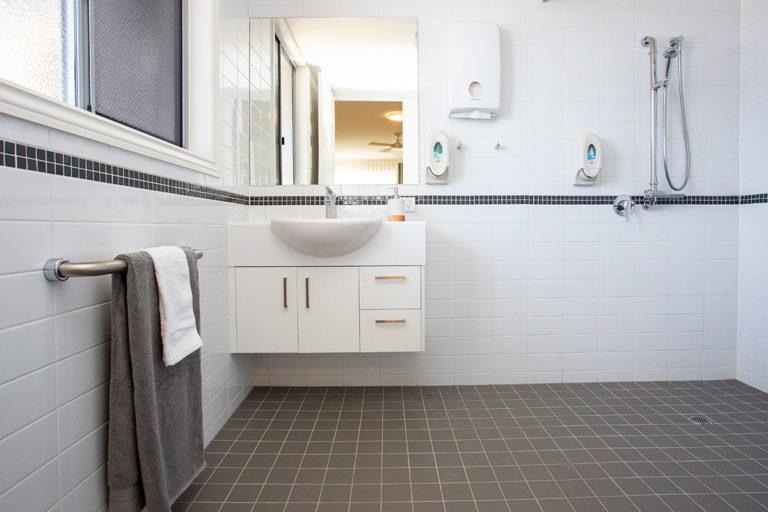 Aged care suite bathroom