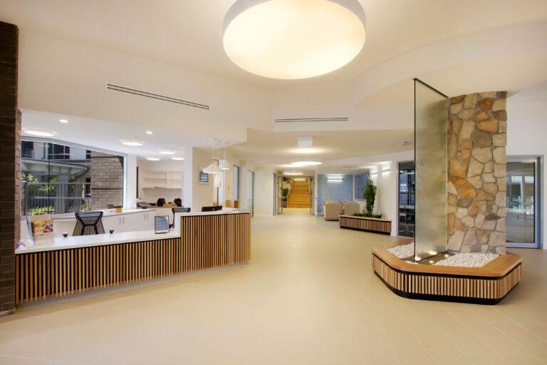 Aged care centre reception