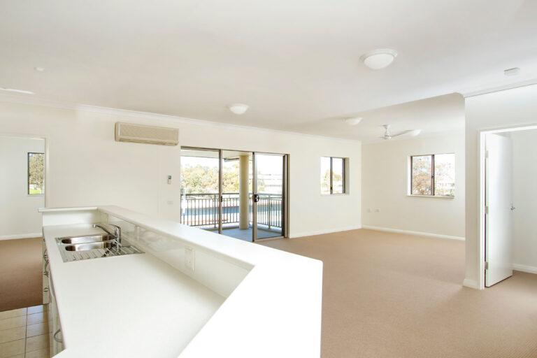 Unit kitchen & living area