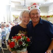 Volunteer at Christmas celebration