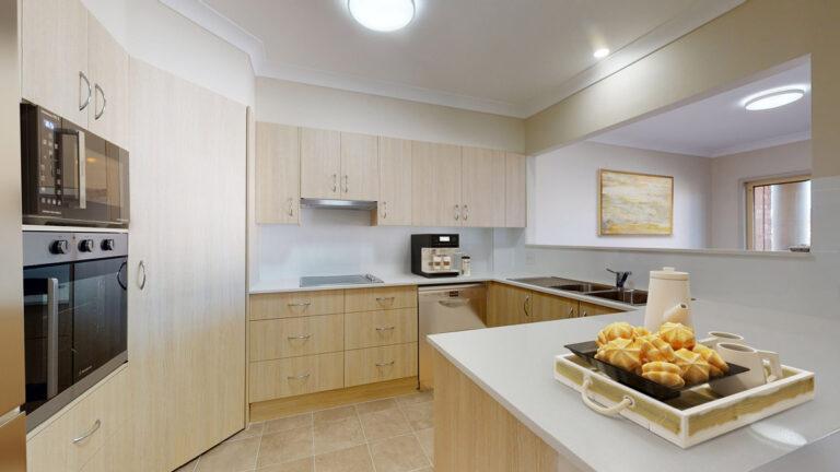 Retirement villa kitchen