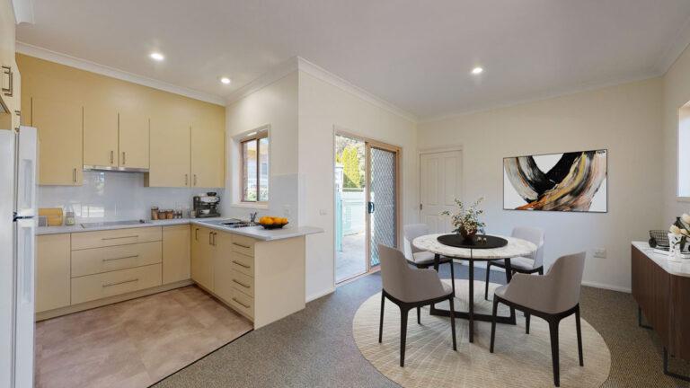 villa kitchen and dining