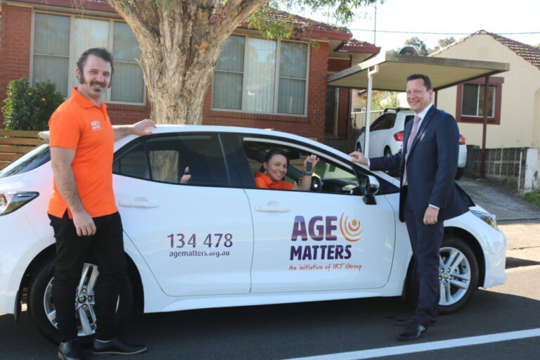 Age Matters car with local MP