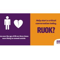 RUOK Men over the age of 85 suicide