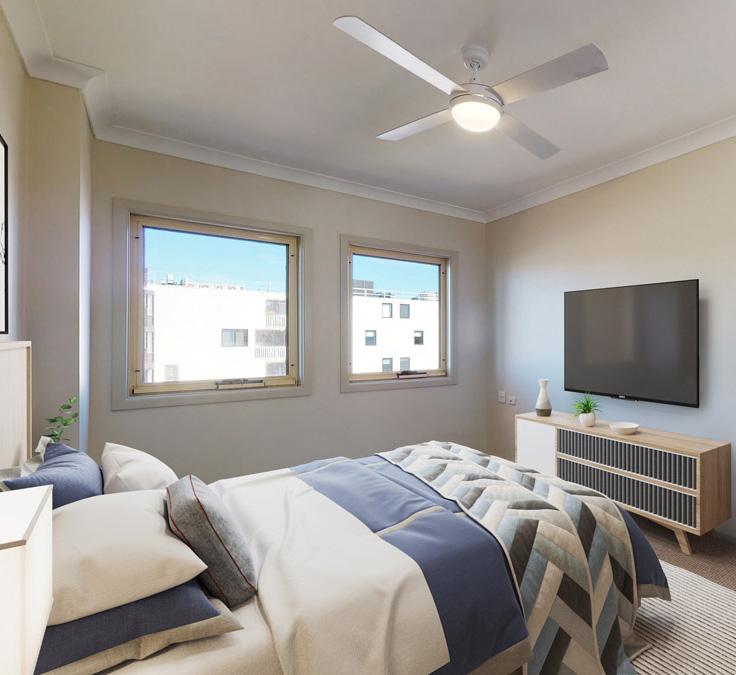 Retirement villa bedroom