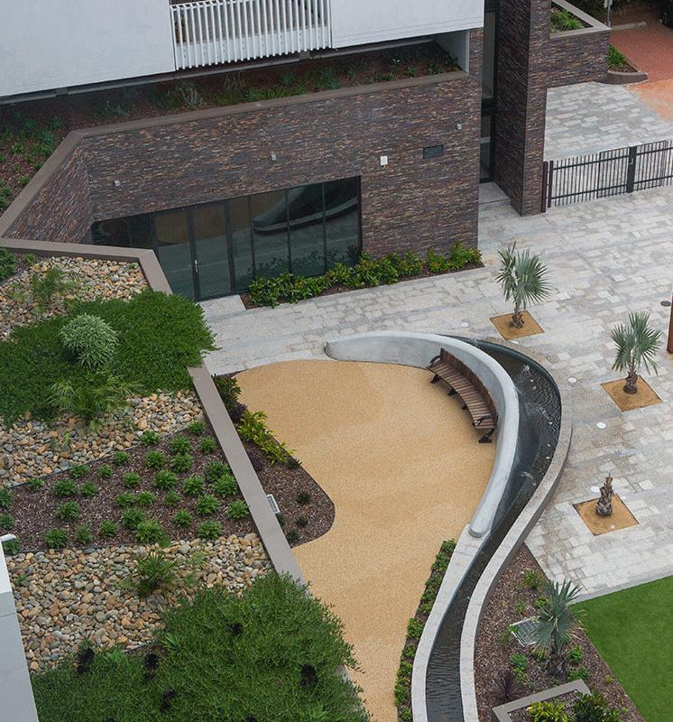 Retirement Village Courtyard