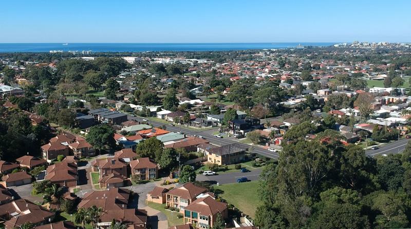 aerial view of Tarrawanna