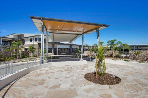 Aged care centre entrance